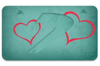 Tarjeta love v2, regala Seven Dance
